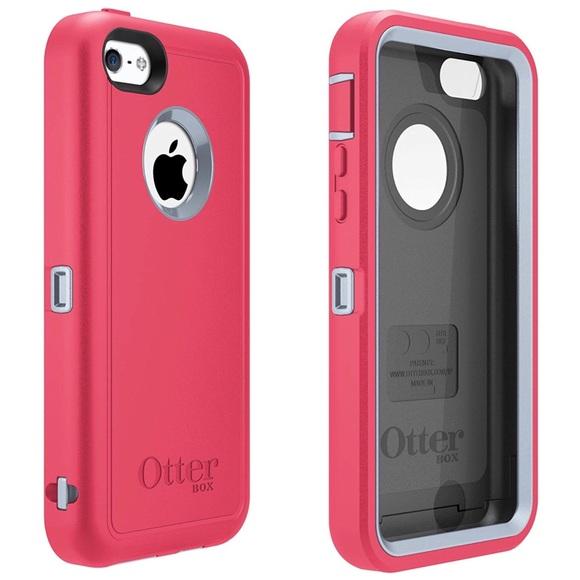 super popular 94bf2 e0c4e Otterbox Defender iPhone 5c Series Pink Gray Case